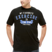 Hybrid Favorite Exercise Short-Sleeve Graphic Tee - Big & Tall
