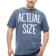 Hybrid Actual Size Short-Sleeve Graphic Tee - Big & Tall