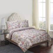 Jessica McClintock Bloom Microfiber Printed 8-pc. Complete Bedding Set with Sheets