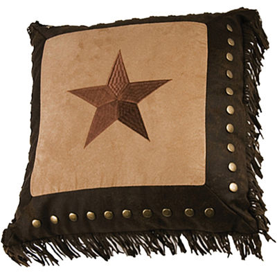 HiEnd Accents Luxury Star Framed Square Decorative Pillow