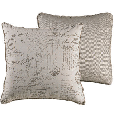 Fairfield Paris Script Euro Sham