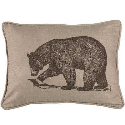 HiEnd Accents Briarcliff Bear Square Decorative Pillow