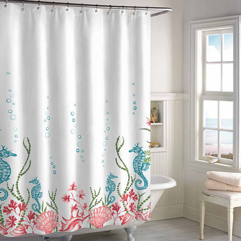 Destinations Sea Horse Shower Curtain