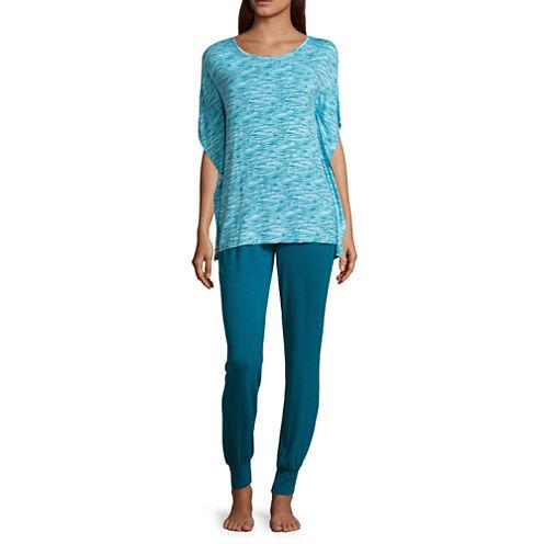 Ambrielle 2-pc. Floral Pant Pajama Set
