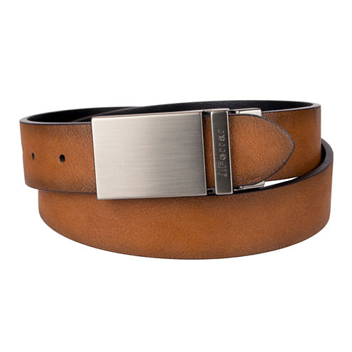 JF. J Ferrar® Reversible Belt with Plaque Buckle