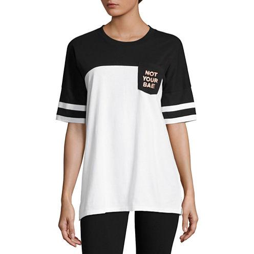 """Flirtitude """"Not Your Bae"""" Graphic T-Shirt- Juniors"""