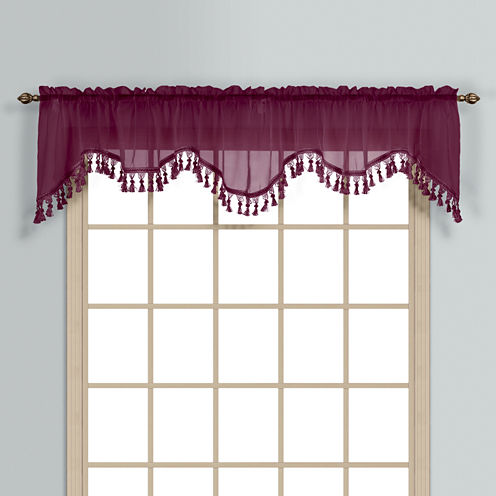 United Curtain Co Monte Carlo Rod-Pocket Valance