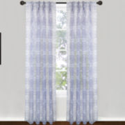 Magic Pleats™ Venetian Tiles Pinch-Pleat Sheer Panel Pair