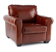 Possibilities Roll-Arm Leather Chair