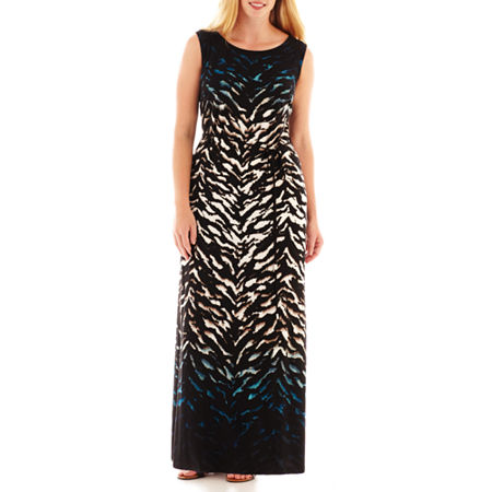 Studio 1 Sleeveless Animal-Print Maxi Dress - Plus