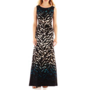 Studio 1® Sleeveless Animal-Print Maxi Dress – Petite