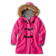Total Girl® Faux Wool Duffle Coat – Girls 6-16