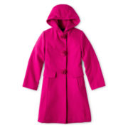 Rothschild Rosette Faux Wool Dress Coat – Girls 6-16