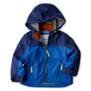 Carter's® Blue Fleece-Lined Coat - Boys 12m-24m