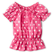 Arizona Ruffle Front Top - Girls 2t-6