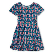 Arizona Short-Sleeve Skater Dress - Girls 2t-6