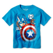 Captain America Graphic Tee – Boys 4-7