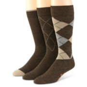 Dockers® 3-pk. Metro Argyle Crew Socks–Big & Tall