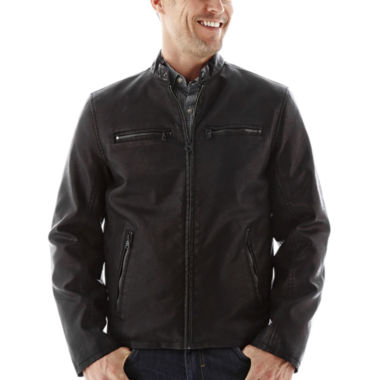 jcpenney.com | Dockers® Faux-Leather Racer Jacket