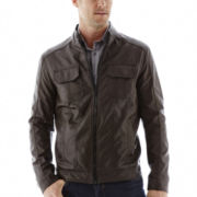 Excelled® Faux-Leather Motorcycle Jacket