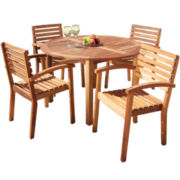 Beach Haven 5-pc. Wood Outdoor Dining Set