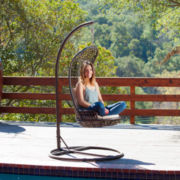 Hatteras Outdoor Wicker Swinging Chair