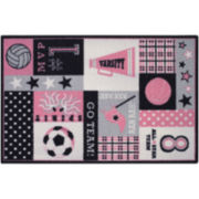 Varsity Sports Washable Rectangular Rugs