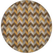 Oblique Indoor/Outdoor Round Rug