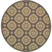 Sand Dollar Indoor/Outdoor Round Rug