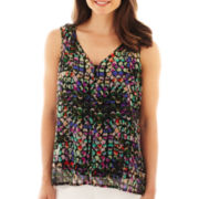 Liz Claiborne Sleeveless Dot Blouse with Cami