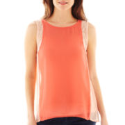 a.n.a® Colorblock Lace-Trimmed Tank Top