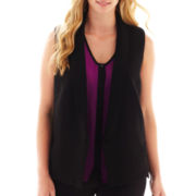 Worthington® Sleeveless Jacket - Plus