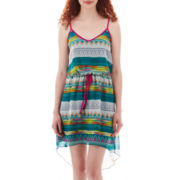 City Triangles® Sleeveless Aztec Print High-Low Dress