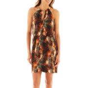 Bisou Bisou® Keyhole Blouson Halter Dress