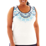 Made For Life™ Medallion Print Tank Top - Plus