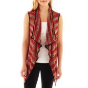 Society Girl Sleeveless Hatchi Knit Striped Vest