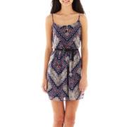 Love Reigns Spaghetti-Strap Print Dress