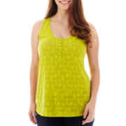 Arizona Henley Tank Top - Plus