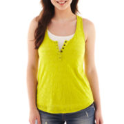 Arizona Henley Tank Top