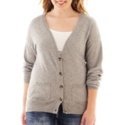 Arizona Long-Sleeve Boyfriend Cardigan - Plus