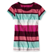Arizona Favorite Striped Short-Sleeve Tee - Girls 6-16 and Plus