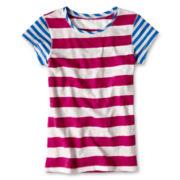 Arizona Favorite Striped Short-Sleeve Tee - Girls 6-16 and Plus