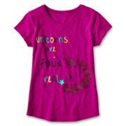 Arizona Graphic Solid Short-Sleeve Tee - Girls 6-16 and Plus