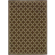 Leaf Lattice Indoor/Outdoor Rectangular Rugs