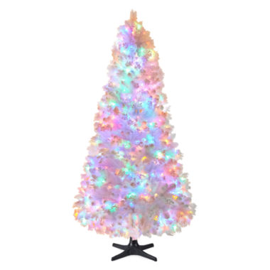 jcpenney.com | North Pole Trading Co. 7.5' Macedon White Pre Lit Tree