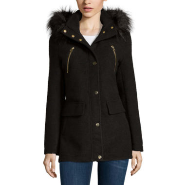 jcpenney.com | a.n.a® Fur-Trim Anorak Jacket