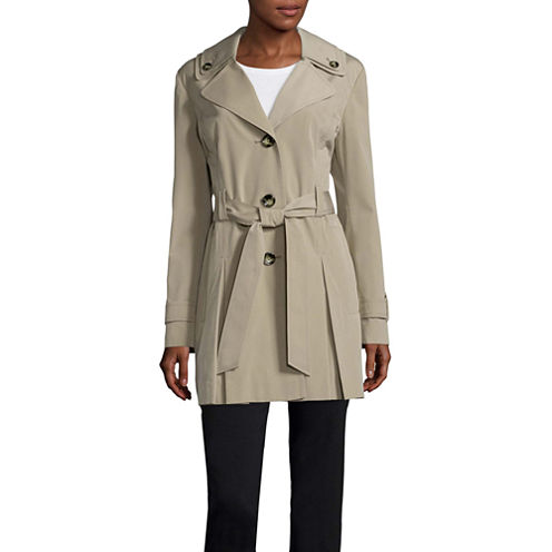 Liz Claiborne® Double Collar Belted Trench Coat