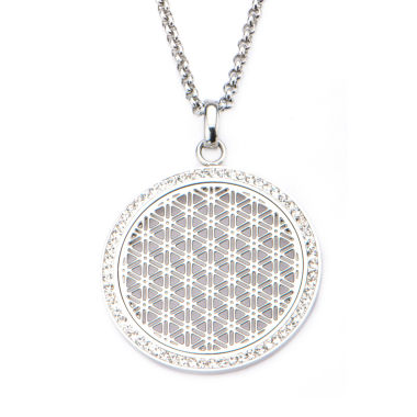 jcpenney.com | Stainless Steel Preciosa Crystal Rolo Chain Pendant Necklace