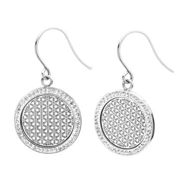 jcpenney.com | Stainless Steel Preciosa Crystal Drop Earrings