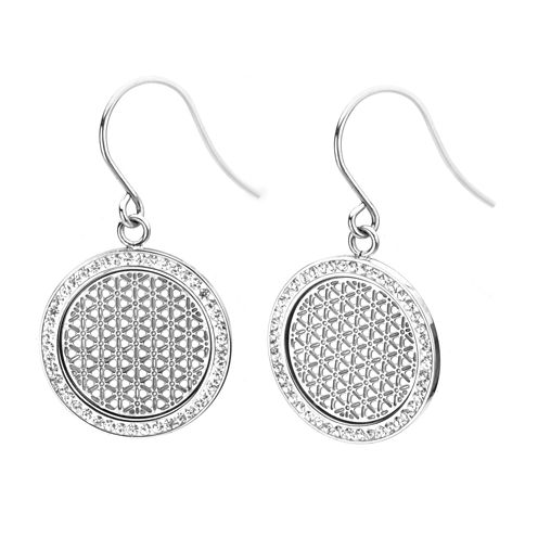 Stainless Steel Preciosa Crystal Drop Earrings